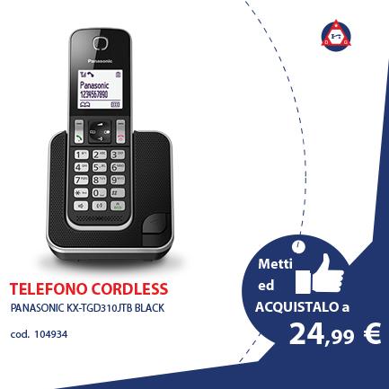 PANASONIC TELEFONI E FAX – KX-TGD310JTB BLACK