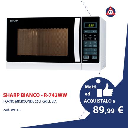 SHARP BIANCO – R-742WW