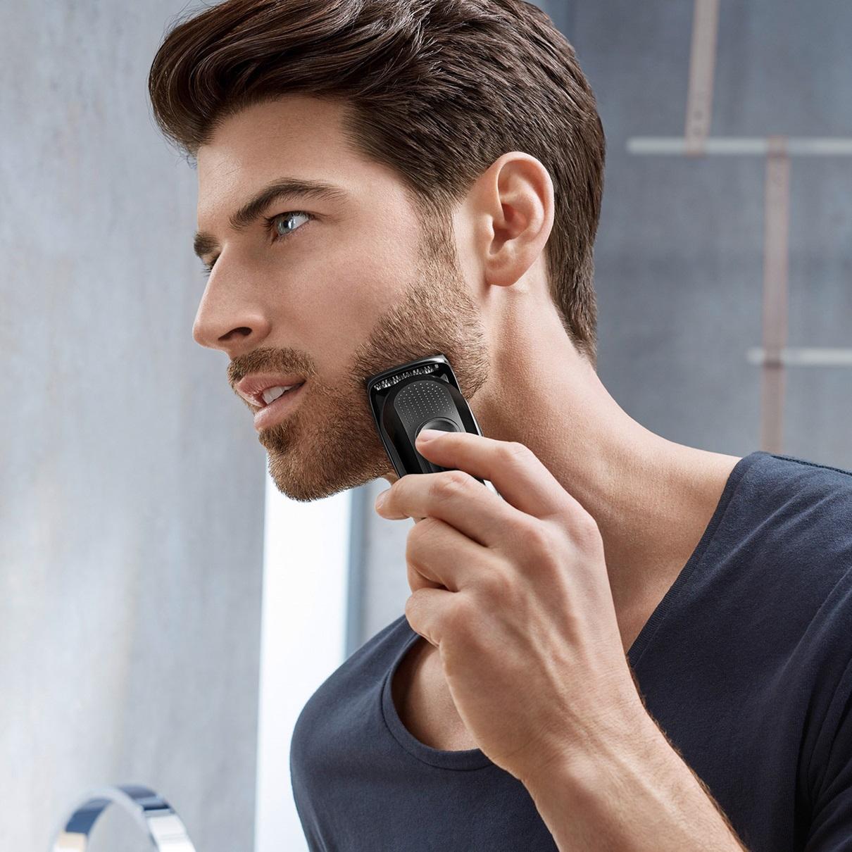 3 Braun Beard Trimmer Mgk3020 In Use